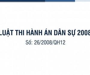 Luật Thi hành án Dân sự năm 2008