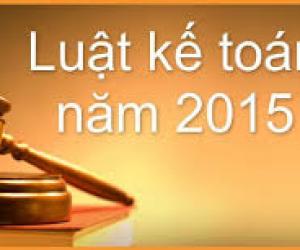 Luật kế toán năm 2015